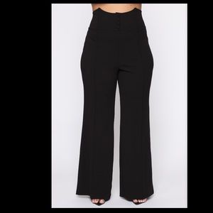 Fashion Nova - Bossy Business Pants - Black